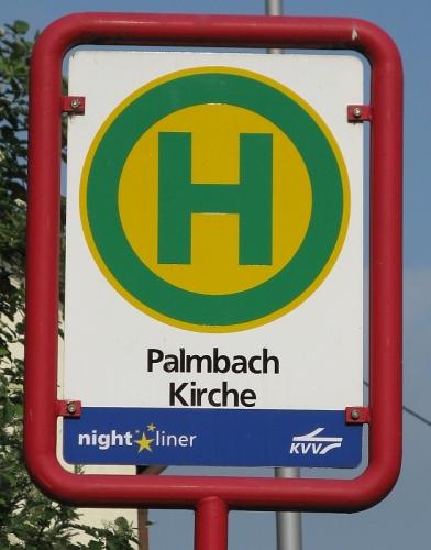 Bushaltestelle Palmbach Kirche