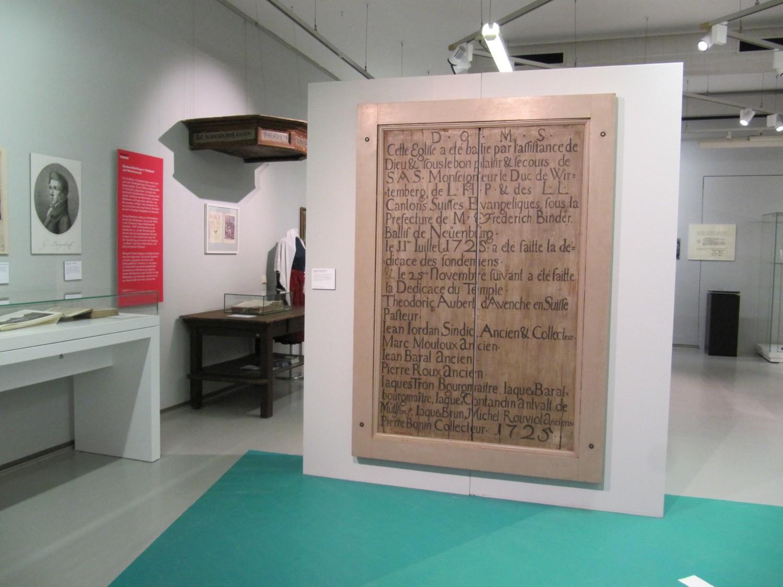 """Palmbacher Waldensertafel in der Ausstellung """"Karlsruher Heimaten"""" im Stadtmuseum"""